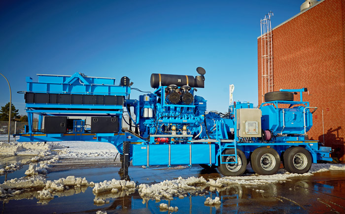 Frac Pump Trailer for sale in Europe 2